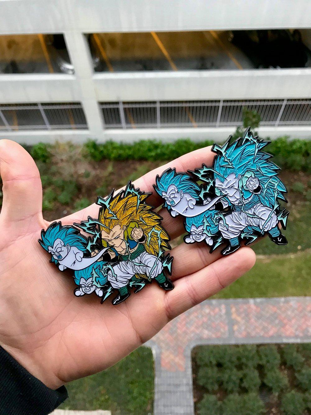 Image of 2 Pin Set - Kamikaze Ghost Gotenks