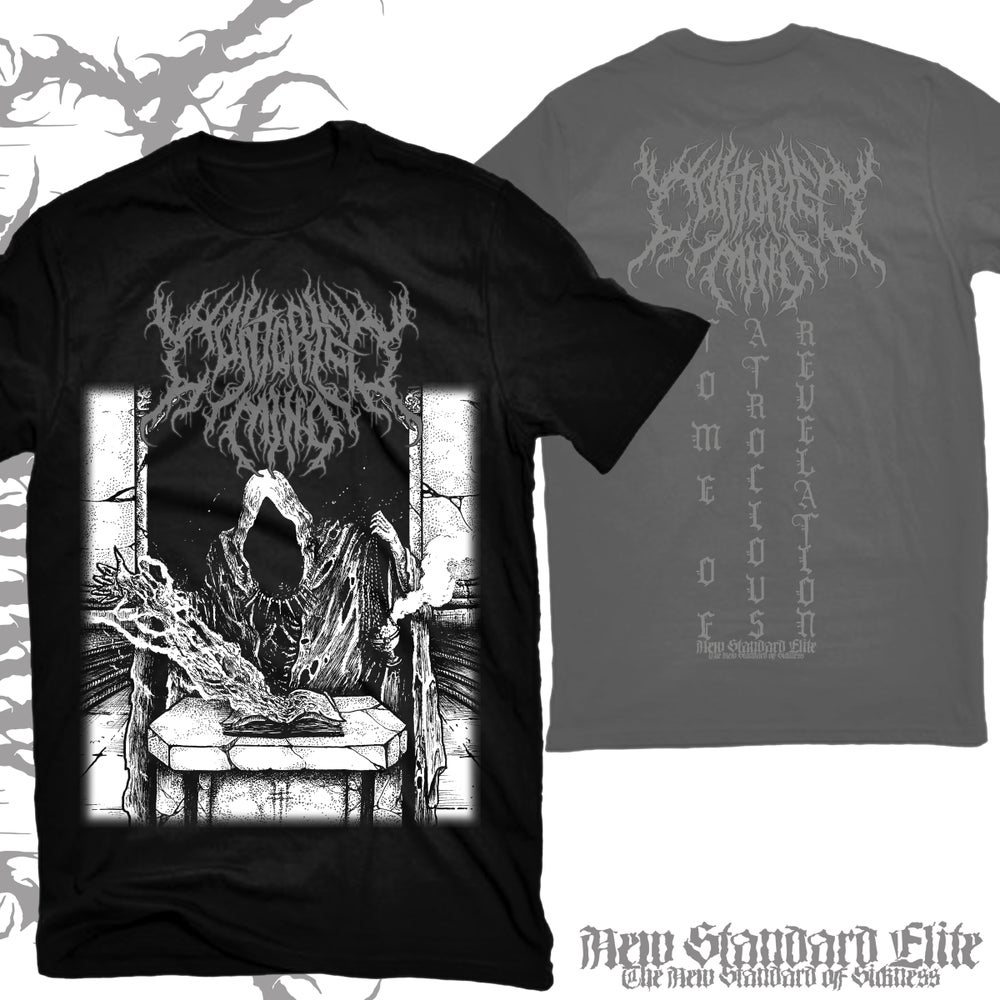 "Image of CONTORTED MIND ""TOME OF ATROCIOUS REVELATION"" T-SHIRT"