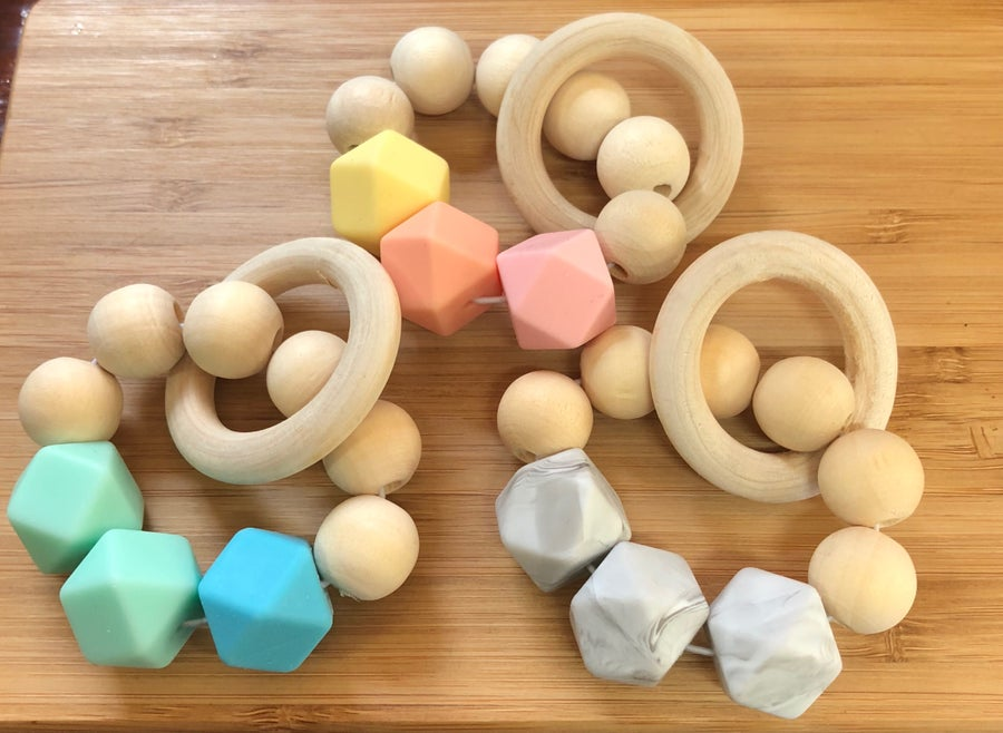 Image of Silicone and Wood Teether