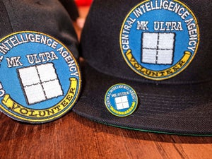 Image of CIA MK Ultra Volunteer Enamel Pin, Patch and Hat