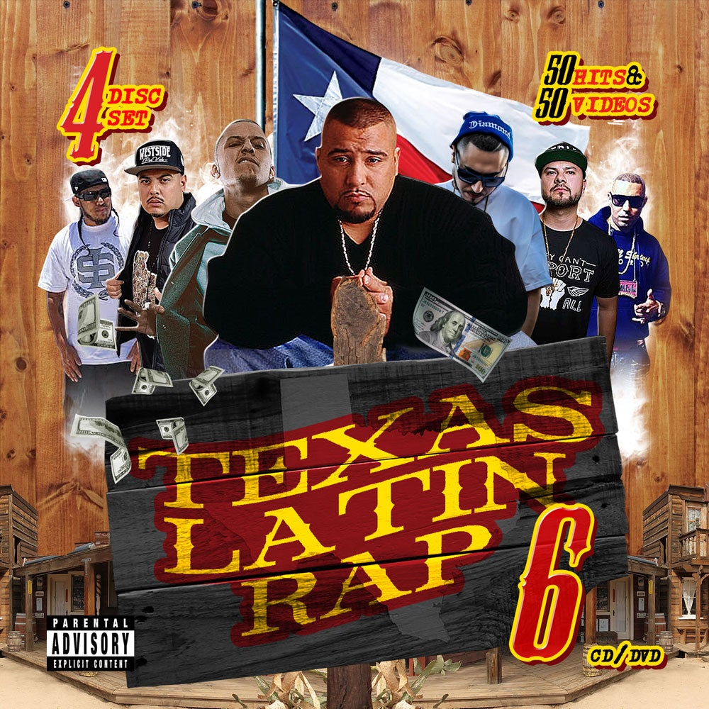 Image of Texas Latin Rap Volume 6 (4 Disc) ft. SPM, Lucky, GT Garza, Dat Boi T, Renizance & Many More