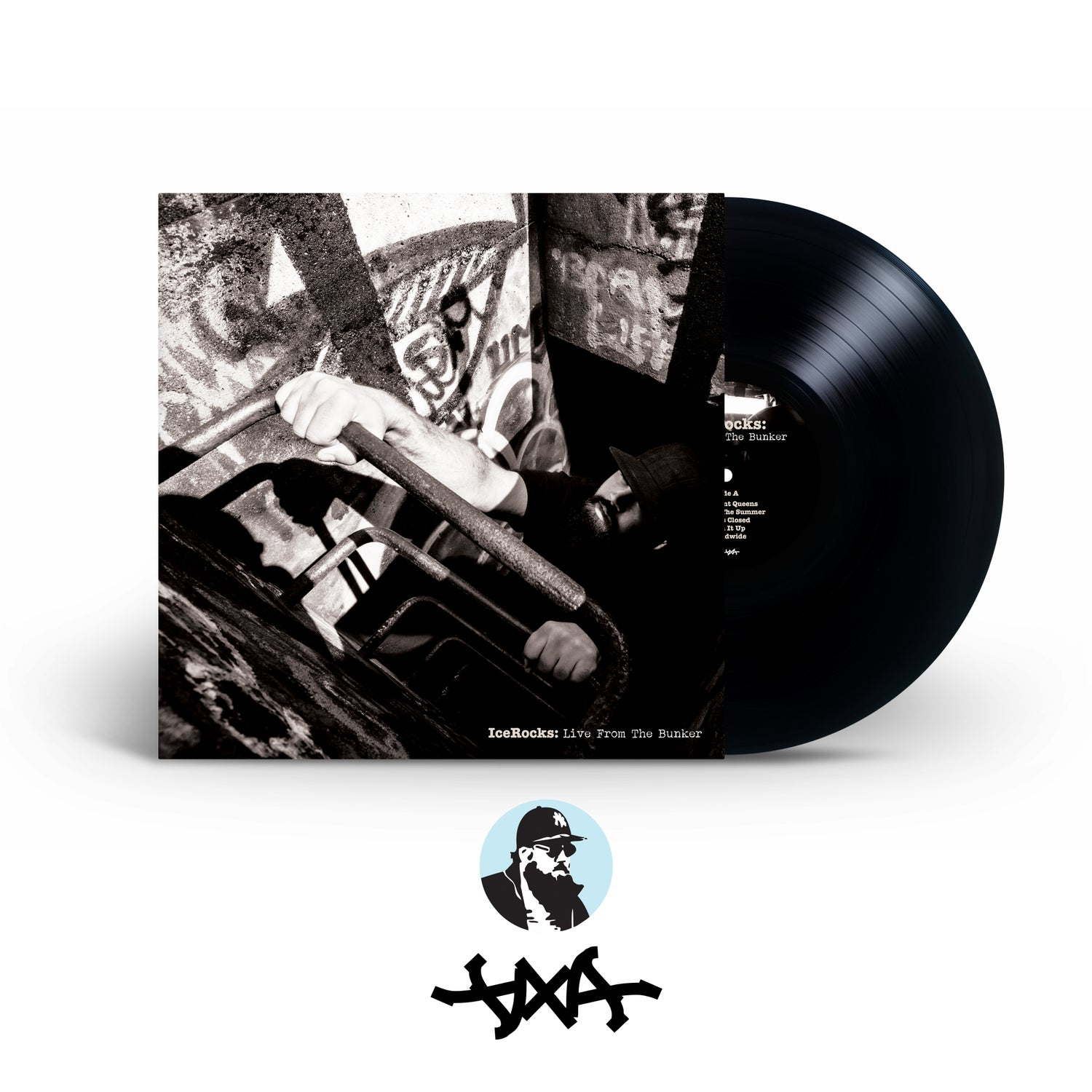 Image of IceRocks: Live From the Bunker Black & Colored Vinyl and Poster // 12""