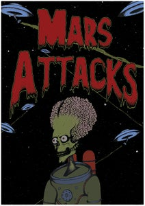 Image of A2 Mars Attacks poster