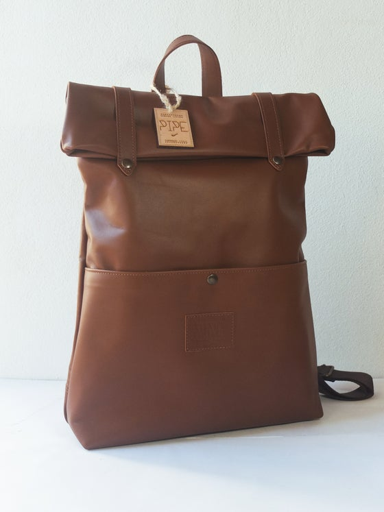 Image of LIGHT BROWN BACKPACK