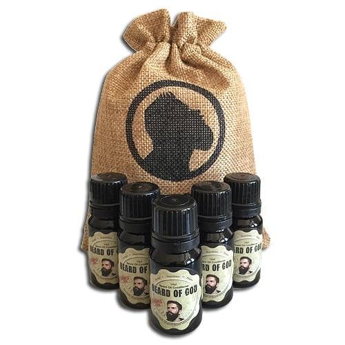 Image of 5 Beard Oil SAMPLE Pack [10ml each] & Sack