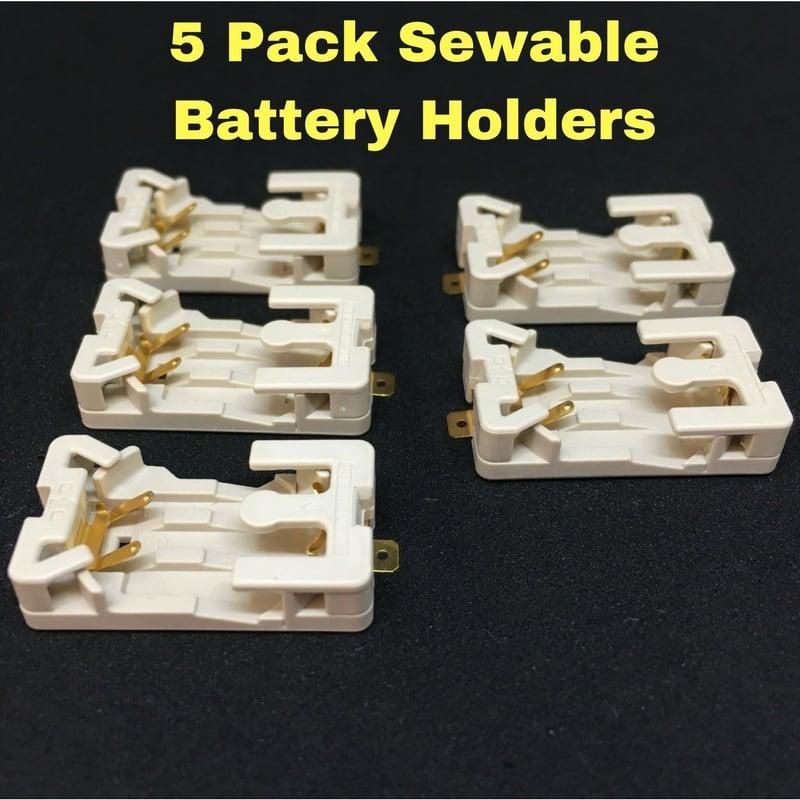 NEW! 5 Pack Sewable Battery Holders