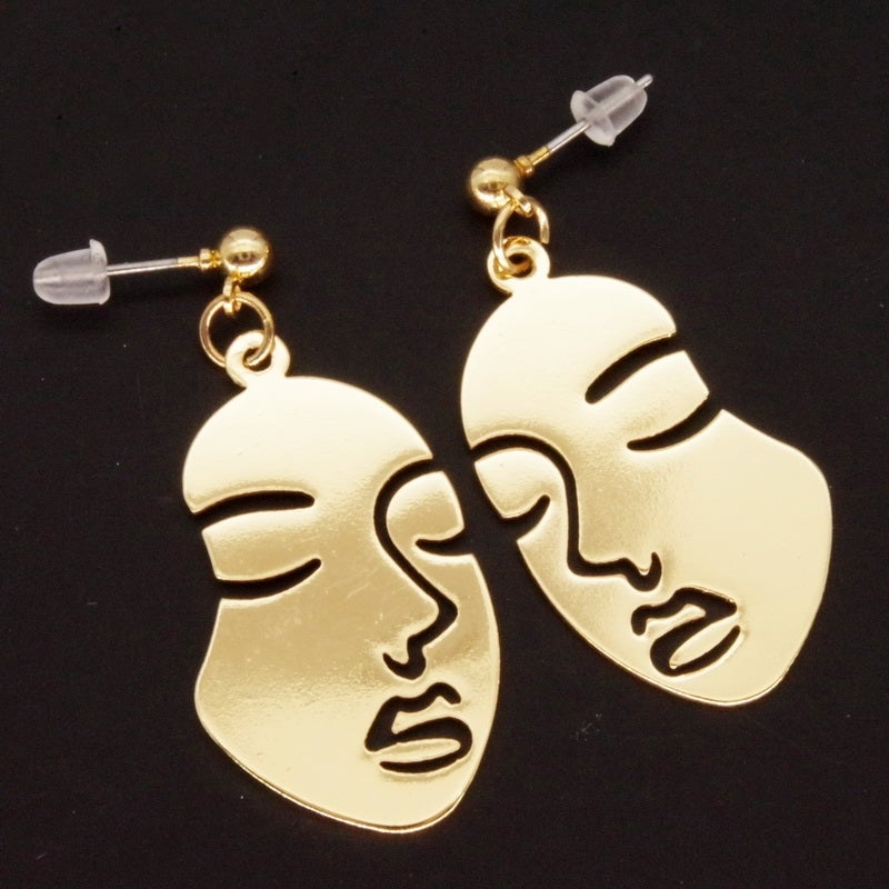Image of IDGAF FACE EARRINGS