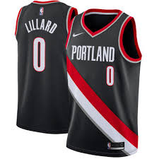 Image of Men's Portland Trail Blazers Damian Lillard Nike White Swingman Jersey - Association Edition
