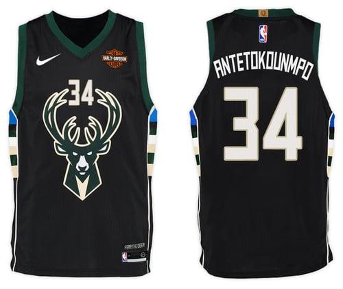 Image of Men's Giannis Antetokounmpo Milwaukee Bucks Nike Swingman Jersey White - Association Edition
