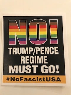 Image of Trump Pence Must Go! Rainbow Sticker Pack