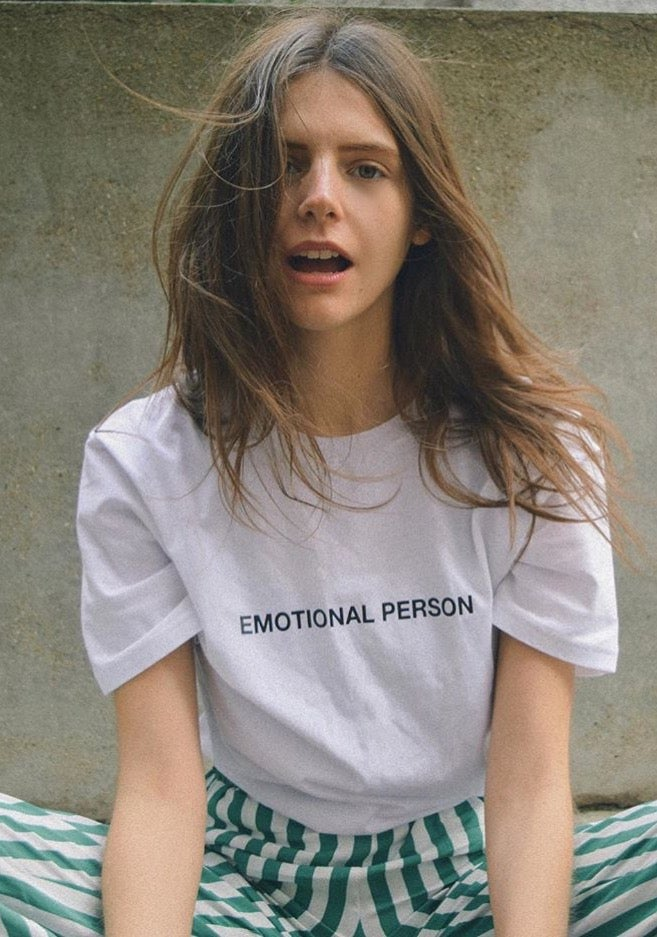 "Image of ""Emotional Person"" T-shirt (White)"