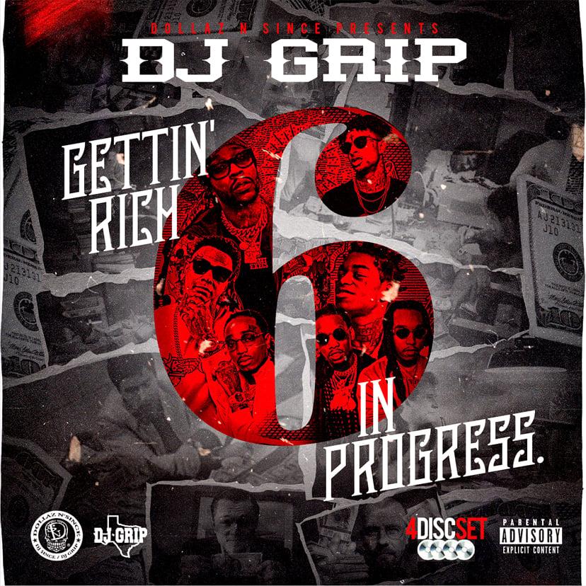 Image of DJ Grip - Gettin Rich In Progress 6 (4 Disc Set w/ DVD)