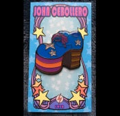 Image of John Cebollero's GLAM ROCK SHOES (Gig 01) Hard Enamel Lapel / Hat Pin