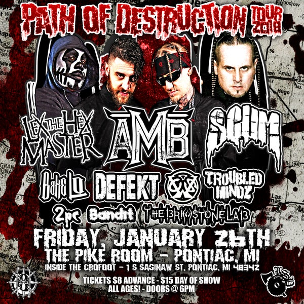Image of 1/26/18 Path of Destruction Tour - Pontiac MI