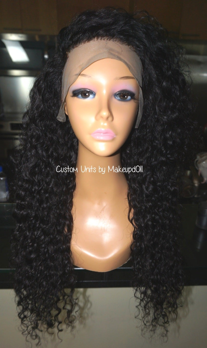 "Image of Indian Wavy/Curly 24"" Custom Lace Frontal Wig!"