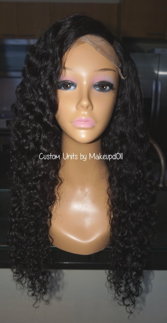 "Image of Indian Wavy/Curly 24"" Custom Closure Wig!"