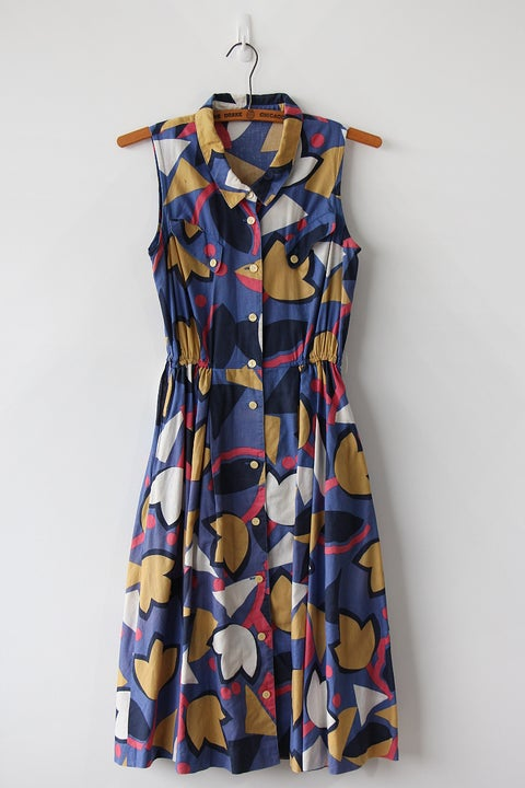 Image of SOLD Tulips And Pockets Comfy Dress