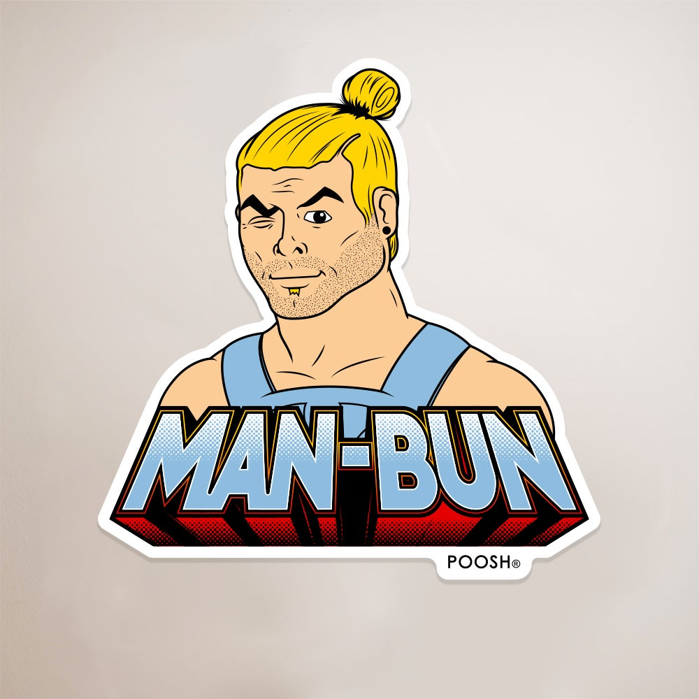 Image of Man-bun Sticker
