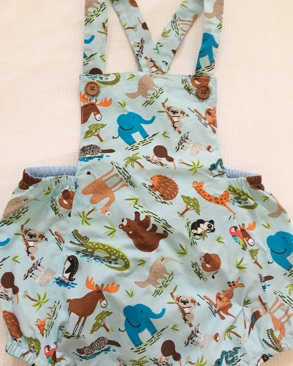 Image of Wild animal vintage romper