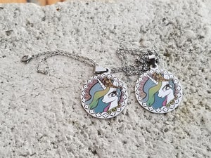 Laser Color Annealing Pendants on Stainless Steel