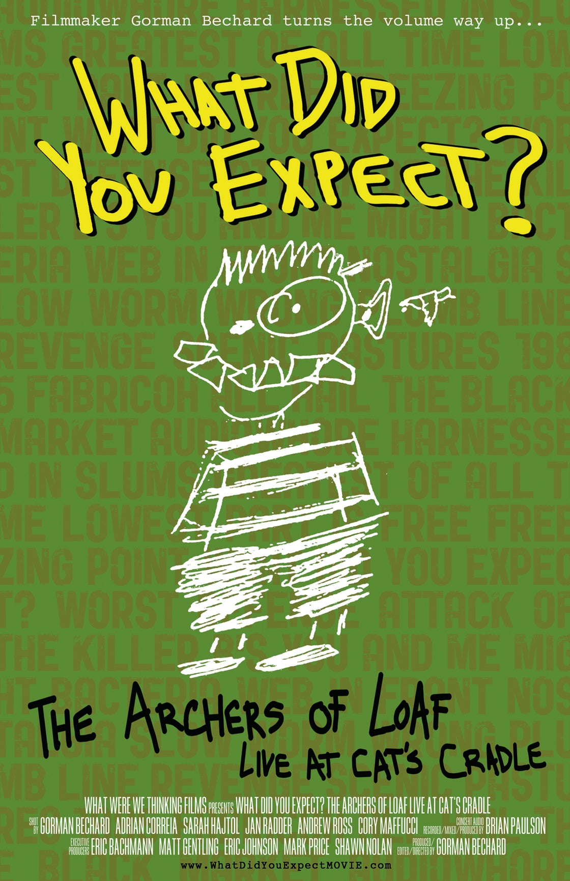 Image of What Did You Expect? Archers of Loaf Live At Cat's Cradle DELUXE DVD - OOP