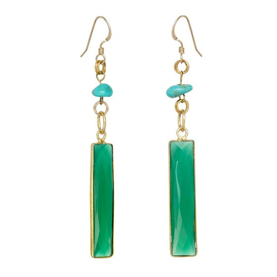 Image of PALM SPRING LONG BAR EARRINGS