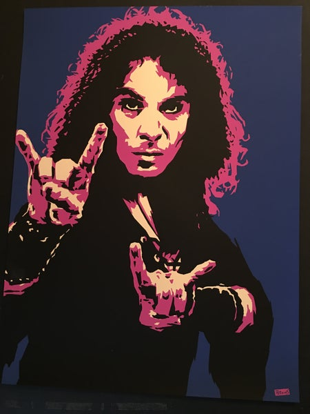 "Image of ""Perkins 77"" Art Print Series - Ronnie James Dio #7718"