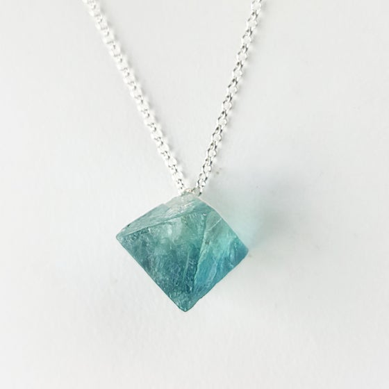 Image of Blue Fluorite on Sterling Silver