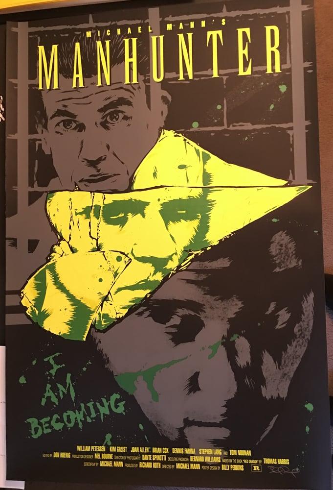Image of Manhunter - screen printed movie poster