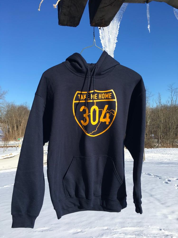 Image of Take Me Home 304 - Navy Hooded Sweatshirt