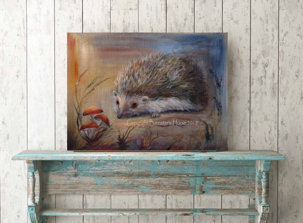 Image of HECTOR THE HEDGEHOG, FINE ART PRINTS