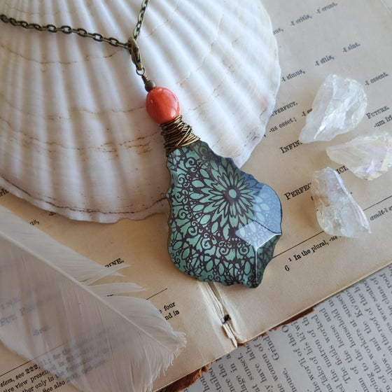 "Image of ""Gypsy"" Tibetan Mandala Block Print Necklace"