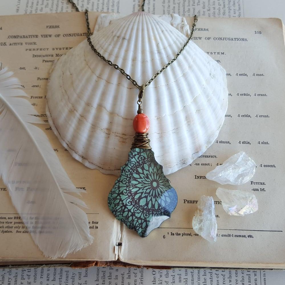 "Image of ""Gypsy"" Tibetan Mandala Block Print Necklace"