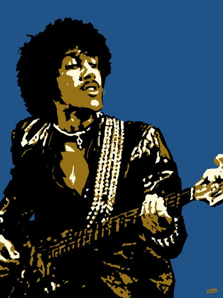 "Image of ""Perkins 77"" Art Print Series - Phil Lynott #7713"
