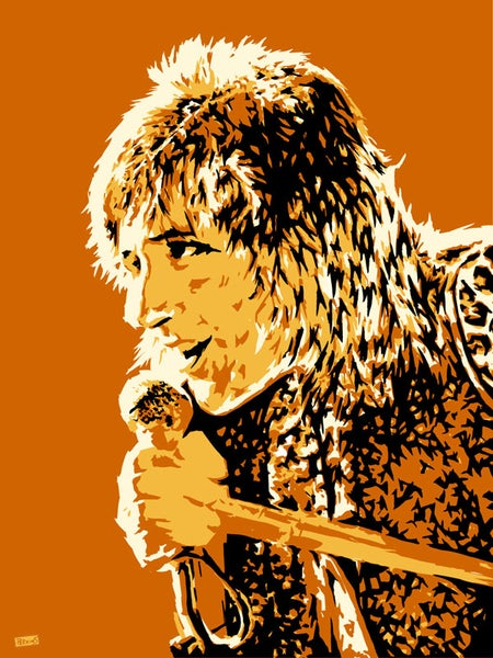 "Image of ""Perkins 77"" Art Print Series - Rod Stewart #7712"