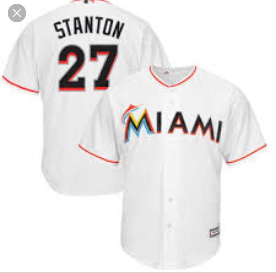 "Image of Mens Miami Marlins ""Giancarlo Stanton"" Jersey"