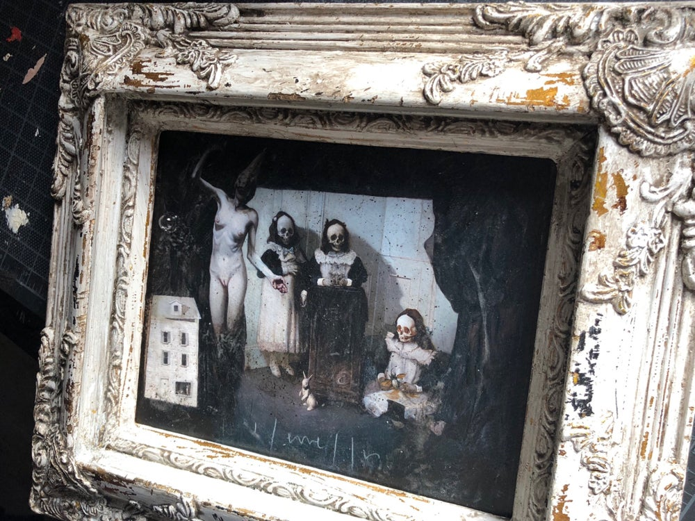 Image of 'LACRIMOSA' [ Unique Print - { 1/1 } ] Hand Embellished Museum Archival Print