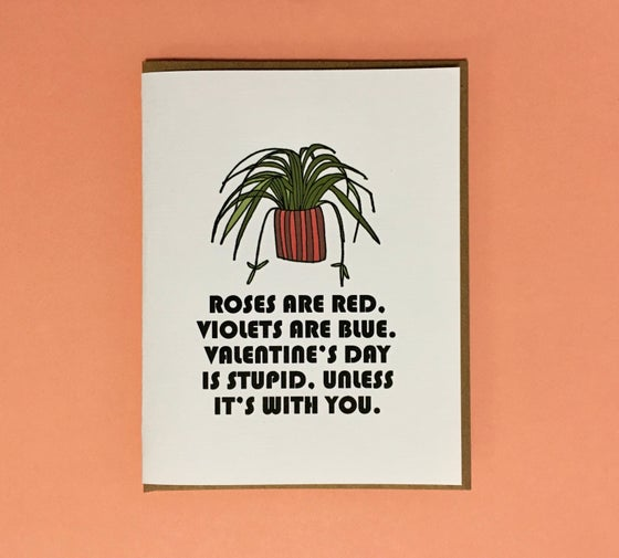 Image of Valentine's Day is Stupid Card
