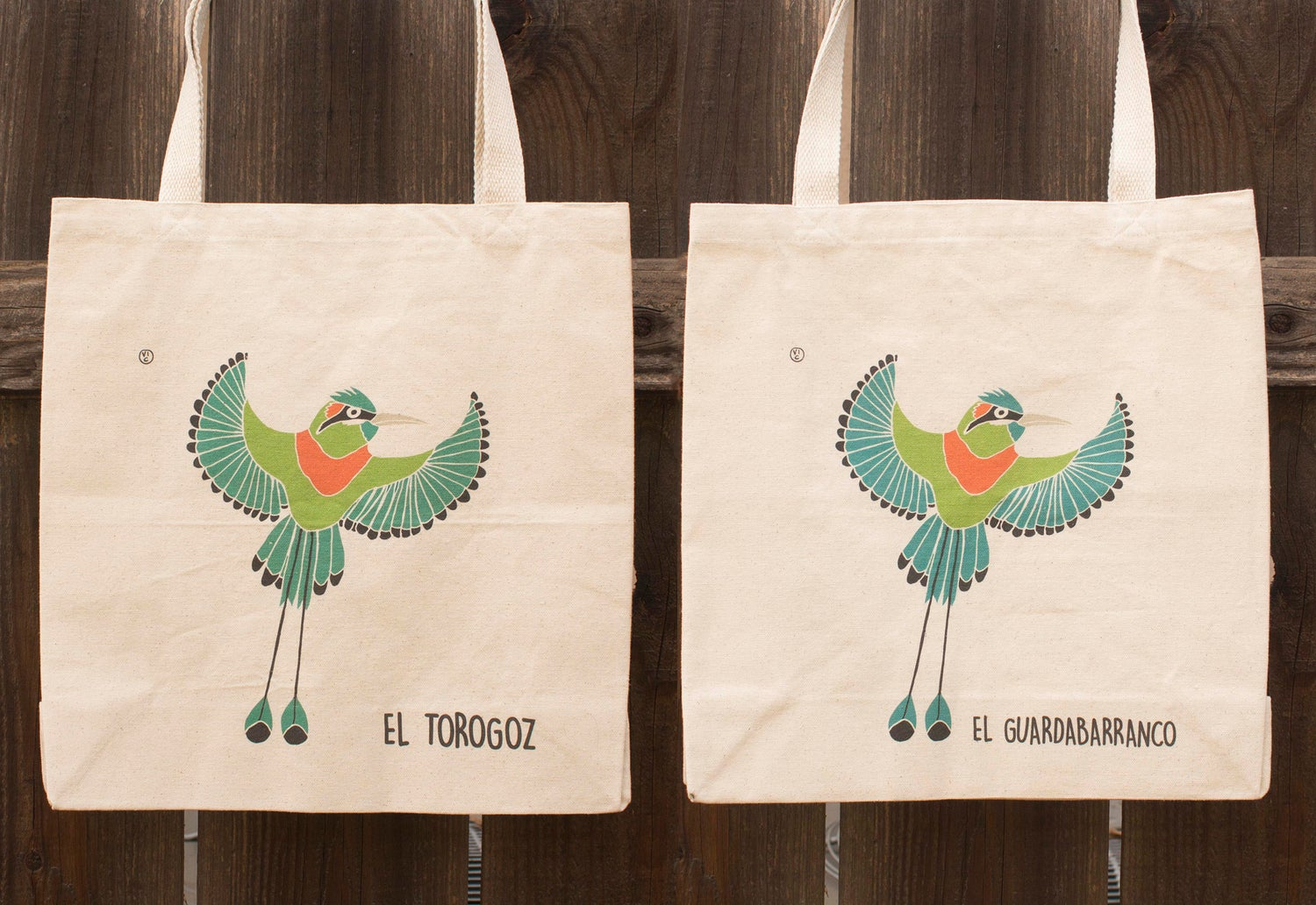 Image of Central American Birds LARGE Canvas Bags