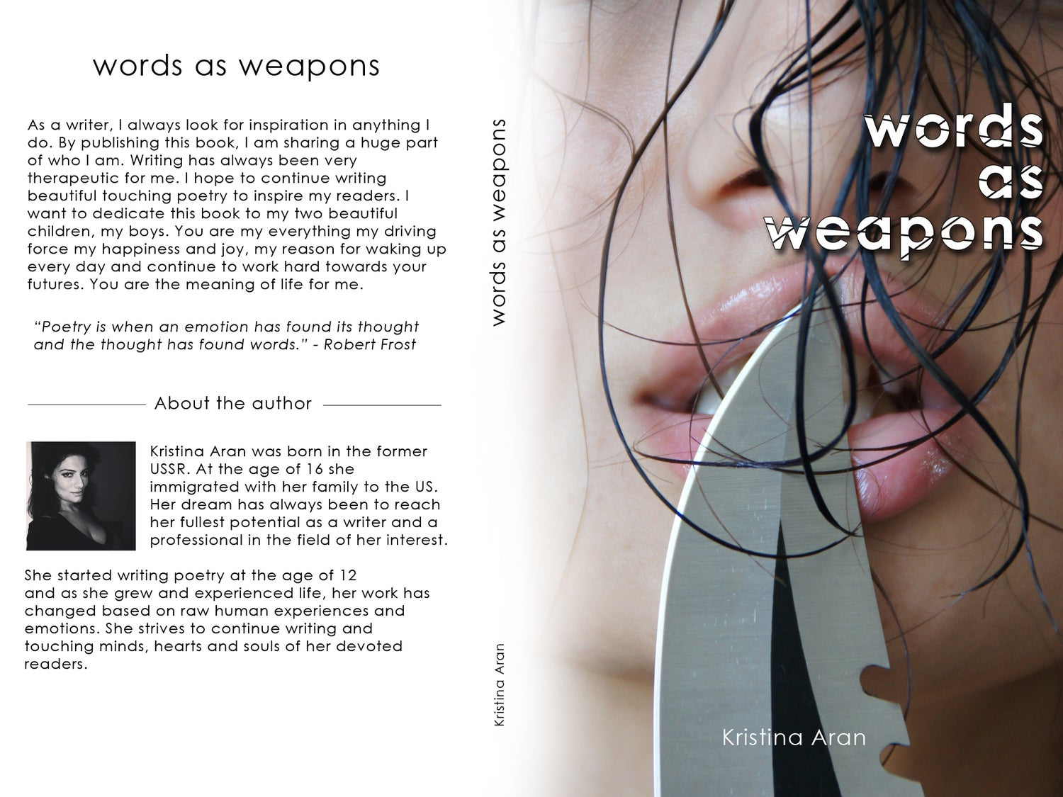 Image of Words As Weapons by Kristina Aran - Signed Copy