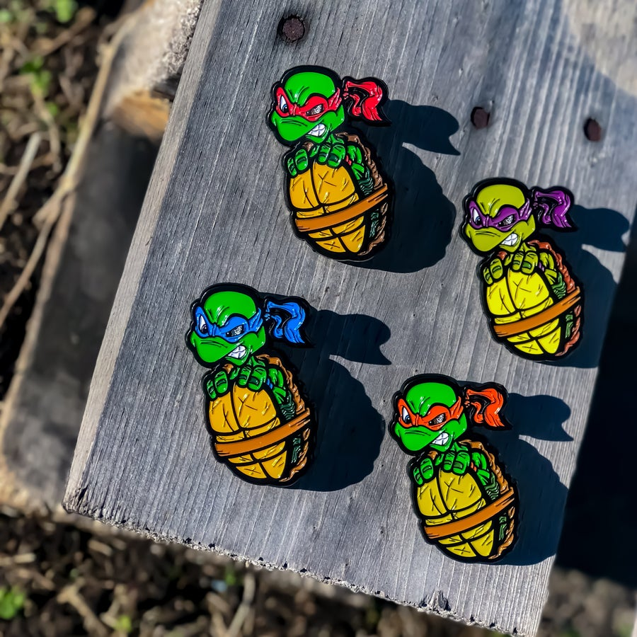 Image of Turtle Boi Pin Set