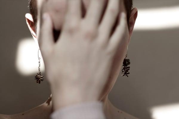 Image of Poppy Seed head earrings