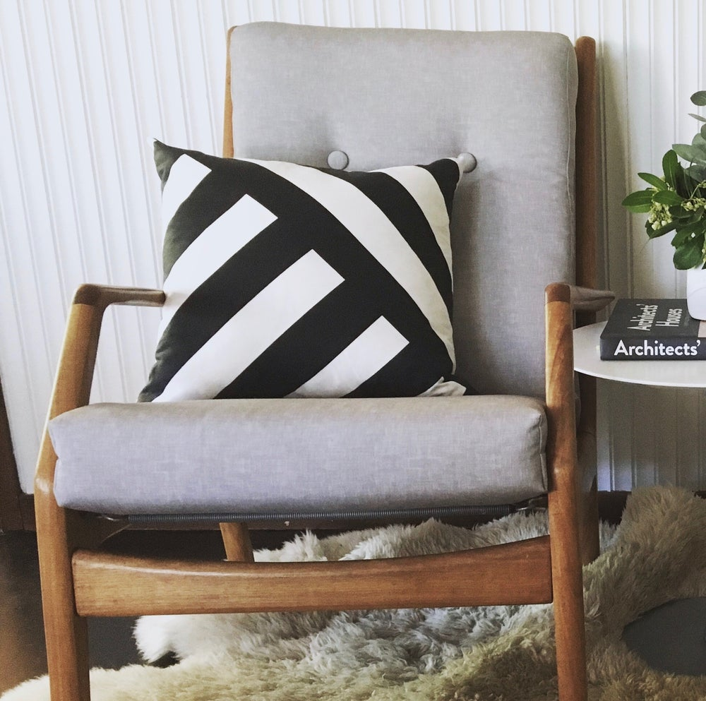 Image of Convergent Black and white Cushion Cover