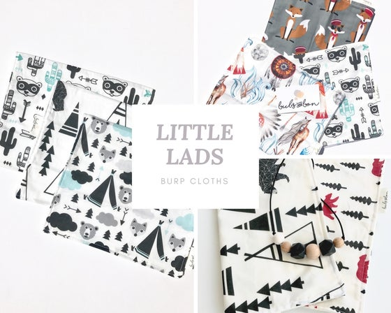 Image of Little Lads- Burp Cloths
