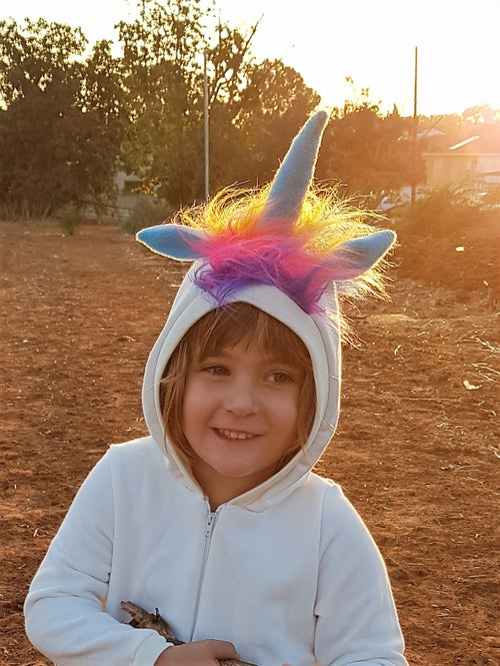 Image of Rainbow unicorn play suit אוברול חד קרן קשת בענן