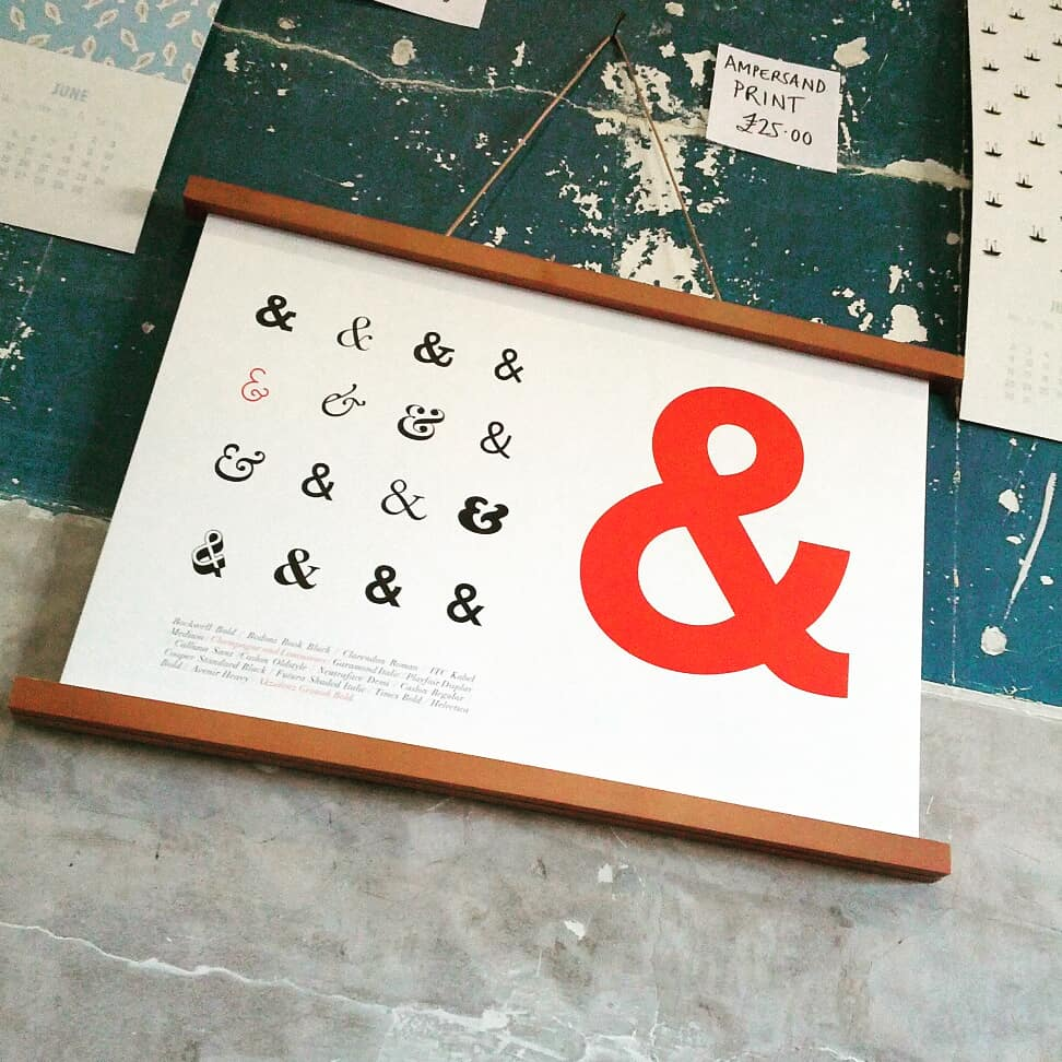 Image of Typography Print, Ampersands