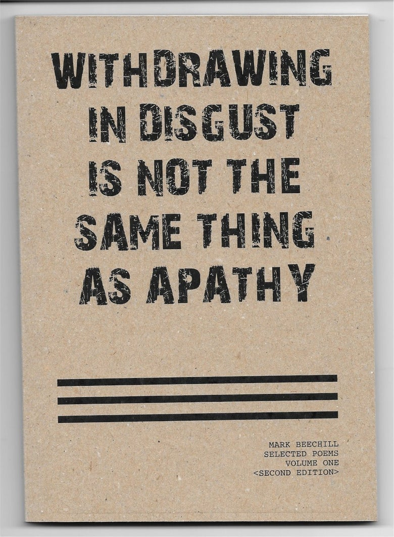 Image of WITHDRAWING IN DISGUST IS NOT THE SAME THING AS APATHY