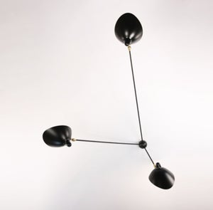 Image of Serge Mouille Style 3 Arms Wall Lamp - Spider Applique 3 fixed arms