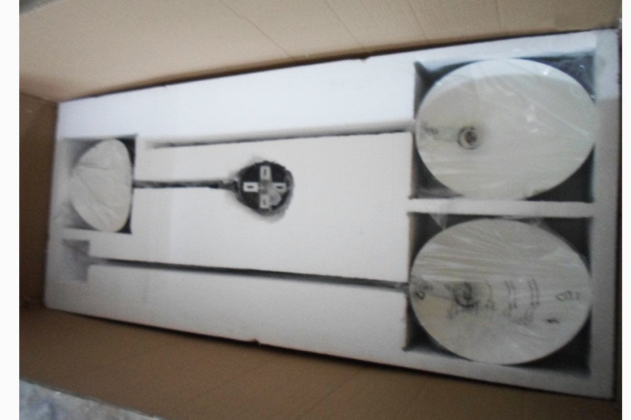 Image of Serge Mouille Style 3 Arms Ceiling Lamp - Ceiling Spider 3 fixed arms