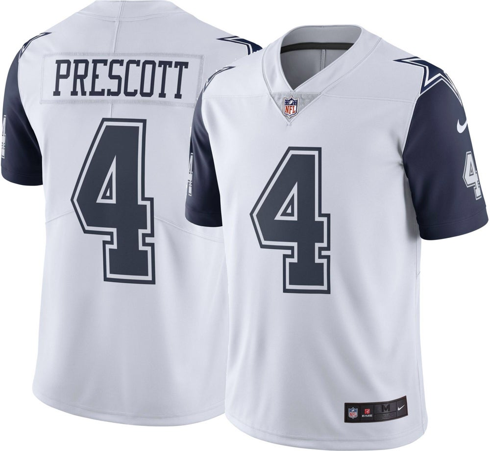 "Image of Dak Prescott Dallas Cowboys ""Rush Color"" Jersey"